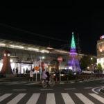 中山商店会に頭頂部が鮮やかな緑のイルミネーションが!