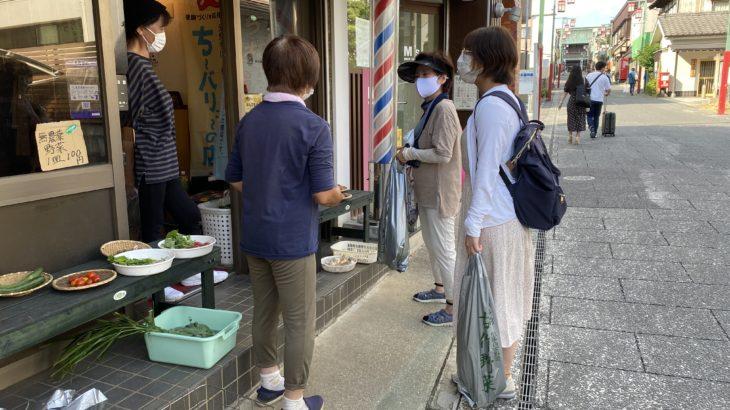 中山参道商店会で毎週土&日曜・午後から開催「黒門マルシェ」、古作野菜を販売するコミュニティ
